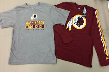Washington Redskins T-Shirt & Long Sleeve Combo Set New With Tags Youth L 14--16