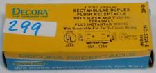 LEVITON RECTANGULAR DUPLEX FLUSH RECEPTACLE 5325-I