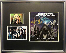 SIGNED HUNTRESS AUTOGRAPHED STARBOUND BEAST CD FRAMED MATTED W/PICS NICE