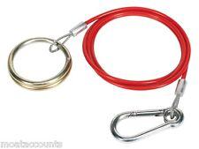 Red PVC Coated Breakaway Cable [MP498] Caravan/Trailer Quick Release break away