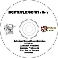 Boobytraps, Explosives & Weapons Books and Manual Collection on CD