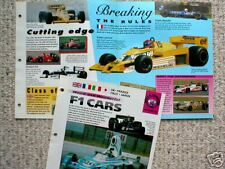 FORMULA F-1 Cars Brochure:LOTUS,TYRRELL,RENAULT,FERRARI