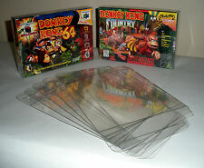 10 Clear SNES / N64 Game Box Protectors - Protect your CIB games! Nintendo