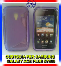 Pellicola+Custodia cover case WAVE VIOLA per Samsung Galaxy Ace plus S7500 (H8)