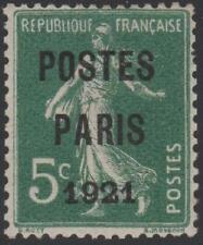 "FRANCE STAMP TIMBRE PREOBLITERE 26 ""SEMEUSE POSTES PARIS 1921""NEUFxx A VOIR J364"