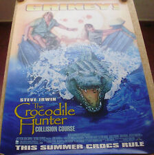 THE CROCODILE HUNTER COLLISION COURSE unfolded poster, DS, advance, 2002, Irwin