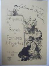 LITHOGRAPHIE 19è MAITRES DE L'AFFICHE 1èr EXPOSITION DE LA SOCIETE DES PEINTRES