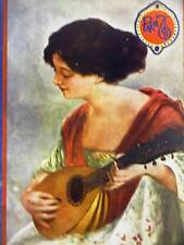 Para Ti Art Deco Cover OUD or LUTE PLAYING MUSIC 1925 Matted