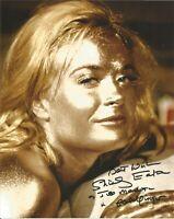 James Bond Shirley Eaton Goldfinger signed 10 x 8 inch autographed photo AK1412