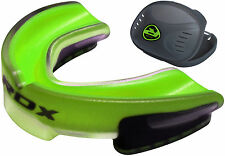 RDX Air Gel Gum Shield & Case Mouth Guard Boxing MMA Junior Adult Rugby Box G AU