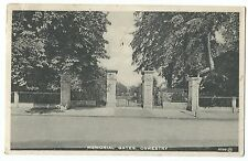 Memorial Gates, Oswestry PPC, Posted 1933 to Huncoat