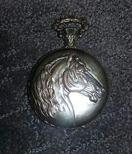 vtg arnex Swiss made 17 jewels incablok pocket watch  wild horse head works