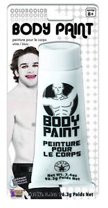 White Body Paint Makeup Adult Halloween Costume Accessories Water Washable