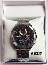 SEIKO Men's PROSPEX Two-Tone Solar World Time Chronograph WATCH SSC508