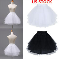 US Kid Girl Petticoat Tutu Crinoline Underskirt Hoopless Slips For Wedding Dress