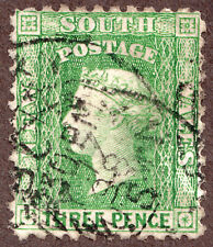 New South Wales, 54a 3d Green QV, H Used