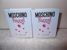 Women's Moschino Funny 2 x1 ml  Eau De Toilette Sample Sprays.New Item Free Post