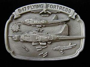 AWESOME B17 FLYING FORTRESS BOMBER BELT BUCKLE BUCKLES