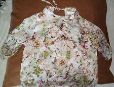 Blouse, chemisier fille 7/8 ans CACHAREL motifs cerisier japonais en fleur, TBE
