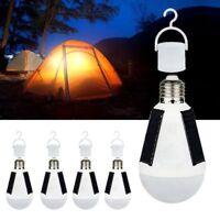 Portable Solar Power LED Bulb Lamp Outdoor Camp Tent Fishing Light 7W E27 5600K