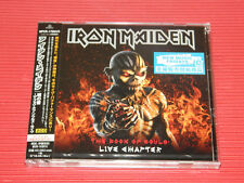 2017 JAPAN 2 CD SET IRON MAIDEN The Book Of Souls Live Chapter with Bookmark