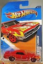 2012 Hot Wheels #168 HW Main Street-Cranston FD 69 MERCURY COUGAR ELIMINATOR Red