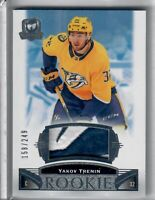 2019-20 Upper Deck The Cup ROOKIE PATCH AUTO YAKOV TRENIN 158 OF 249 2 COLOR