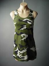 Sale Camouflage Camo Pattern Army Punk Tank Top Shirt Made in USA 95 ac Tunic S
