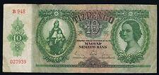 HONGRIE - 10 PENGO Pick n° 100 du 22 décembre 1936 en TB  B948 027939