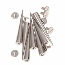 10 Set Silver Screw Bullet Rivet Spike Studs Spots DIY Rock D6A5