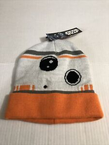 Star Wars BB8 The Force Awakens Droid Disney Robo Character Beanie Hat Cap NWT
