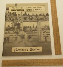Miles City Jaycee BUCKING HORSE SALE - Montana ©1982 Collector's Edition SIGNED