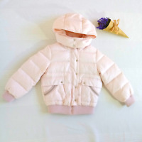 Genuine Gucci Toddler Pink Down Puffer Jacket With Hoodie | Size 24 Months | VGC