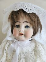 Ernst Heubach 1900 Bisque Doll, 19 inch Antique German Porcelain Doll