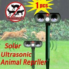 Ultrasonic Solar Power Pest Animal Repeller Repellent Cat Rabbit Dog Mouse bnm