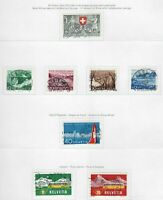 S22556) Switzerland 1953/58 VF Used - Collection Of Used Sets (7 Scans)