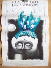 belle affiche théâtre Bruxelles la mandragore Jacques Richez 1984