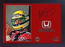 Ayrton Senna World Champion Honda signed autographed Memorabilia Formula1 Framed
