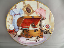 Siamese Cat Kittens Collector Plate Attic Attack Gee Gerardi Country Kitten 1988