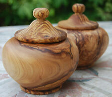 Zuckerdose Holzdose Topf Töpfchen Bonboniere Holz Dose Behälter aus Olivenholz