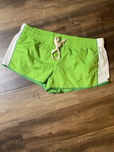 Women's Pink Victoria's Secret Green/Gray Shorts Size Med Running Athletic