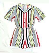 Shadows multicolor striped cotton romper