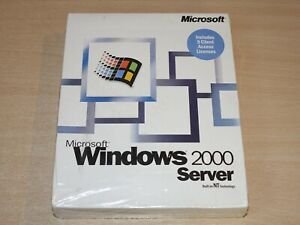 MINT & SEALED !! Microsoft Windows 2000 Server - PC CD ROM - Retrogames.co.uk