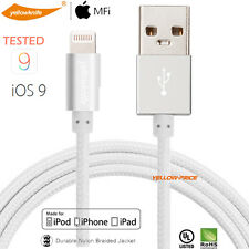 Apple BRAIDED LIGHTNING Sync Data Cable USB Charger IOS 9 for Iphone 5 5C 5S 6S+