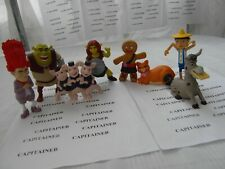2010 MCDONALDS SHREK FOREVER AFTER SET LOT 8 FIGURES FIONA PUSS N DONKEY GINGY