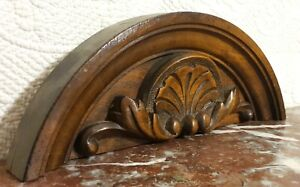 Solid shell scroll leaves carving pediment Antique french architectural salvage