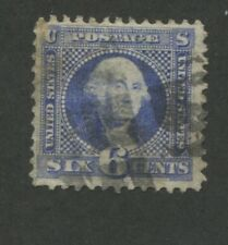 1869 US Stamp #115 6c Used F/VF Catalogue Value $200