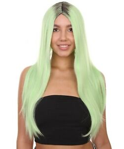 Adult Green Ombre Long Wig for Cosplay Kylie Jenner Party Costume Hair HW-1639A