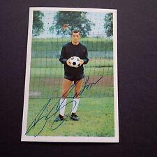 BERNHARD BECKER signiert 1966/67 BERGMANN-Sammelbild 6,5 x 9,5 Autogramm !