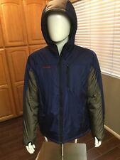 Mammut Jacket Men's XL Down Full Zip Hooded Gray Blue Excellent Condition